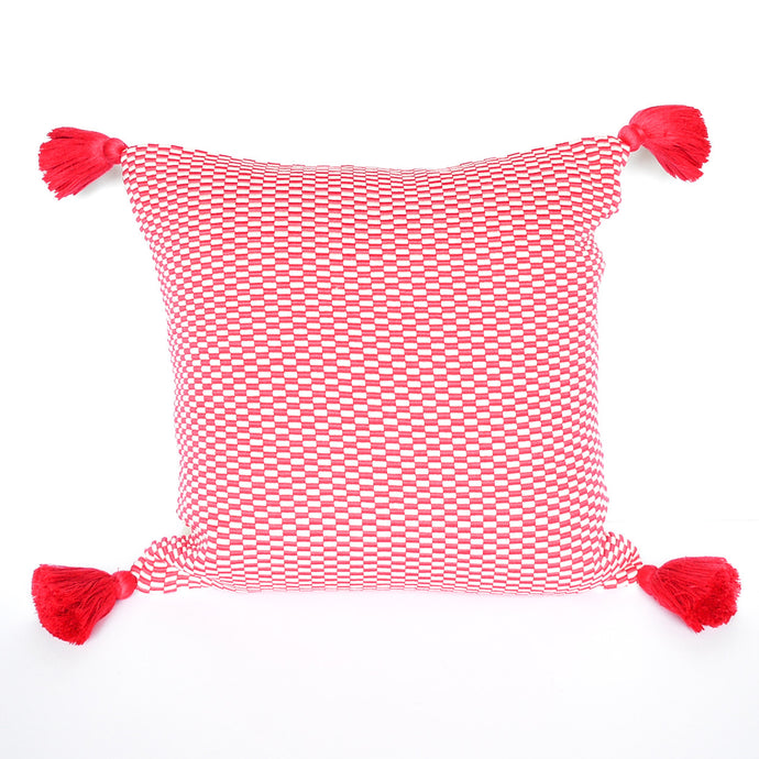 cheerful pink peruvian handmade accent pillow