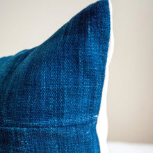Load image into Gallery viewer, Blue Indigo Pillow in Lumbar Shape 12x24