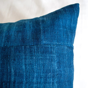 Blue indigo lumbar pillow 12x24