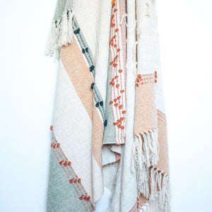Handwoven Accent Throw in Neutrals