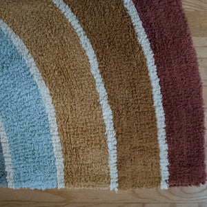 Rainbow Multi Color Cotton Accent Rug