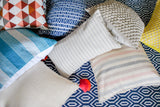 Striped Blue Accent Pillow