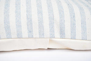 Blue and White Striped Throw Pillow perfect neutral for any homestyle