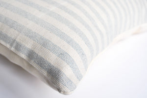 Blue Striped Accent Pillow for Indoor and Outdoor Use