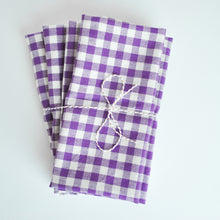 Load image into Gallery viewer, Gingham set of 4 Meraki Home Accents Napkins