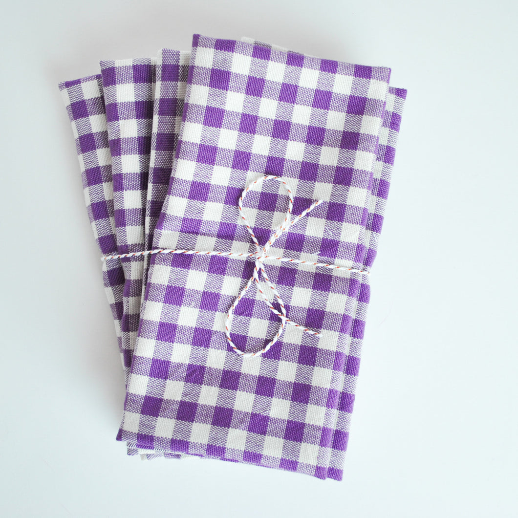 Gingham set of 4 Meraki Home Accents Napkins