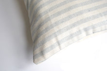Load image into Gallery viewer, Lumbar Accent Pillow with Blue and White Striped Pattern