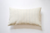 Blue Striped Lumbar Accent Pillow