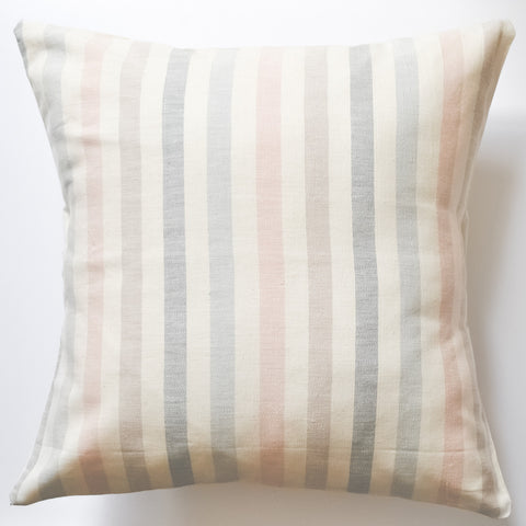 Striped Summer Pastels 20x20 Throw Pillow