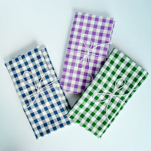 gingham check pattern napkins, meraki home accents
