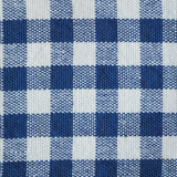Gingham Check Napkins, Set of 4, Navy Blue