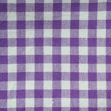 Load image into Gallery viewer, Purple Gingham Pattern Cotton Napkins