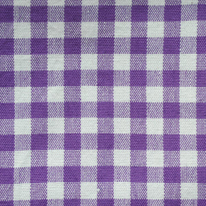 Purple Gingham Pattern Cotton Napkins