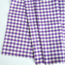 Load image into Gallery viewer, Cotton Gingham Check Table Runner, Purple