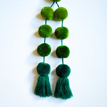 Load image into Gallery viewer, Ombre Green Pom pom purse accessory