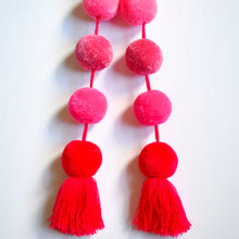 Load image into Gallery viewer, Ombre Pink Pom Pom