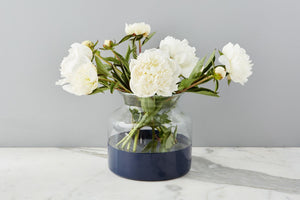 Glass Color Block Flower Vase