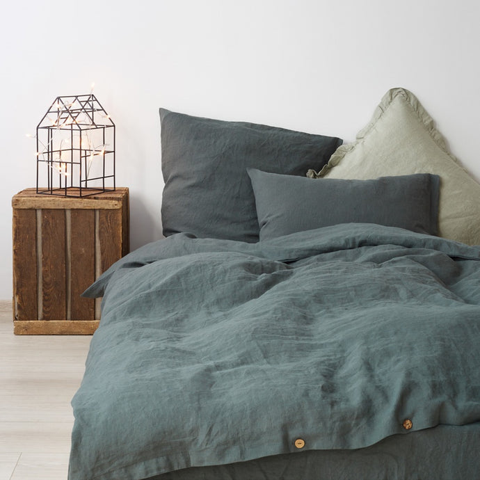 Duvet Cover and Pillow Bedding Set in Forest Green