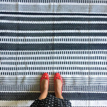Load image into Gallery viewer, Striped Meraki Accent Rug