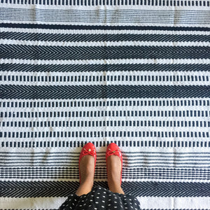 Striped Meraki Accent Rug