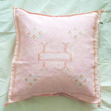 Load image into Gallery viewer, Moroccan Sabra Silk Accent Pillow - Washed Pink