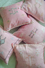 "Load image into Gallery viewer, Pink Moroccan Cactus Silk Pillow 18""x18"""