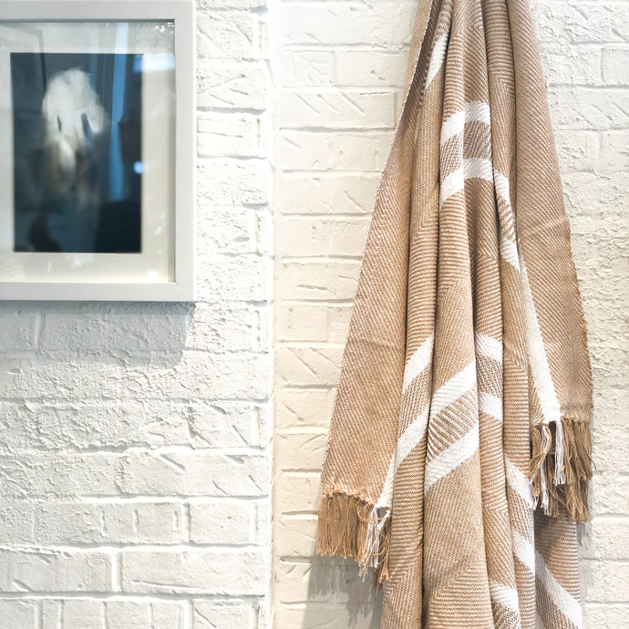 Nolita Throw Blanket in Camel