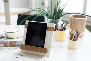 White Cookbook / iPad Stand
