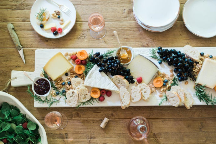 Large Serving Board in White