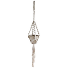 Load image into Gallery viewer, large macrame plant hanger in natural color