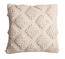 "Load image into Gallery viewer, Textured neutral boho pillow 18"" x 18"""