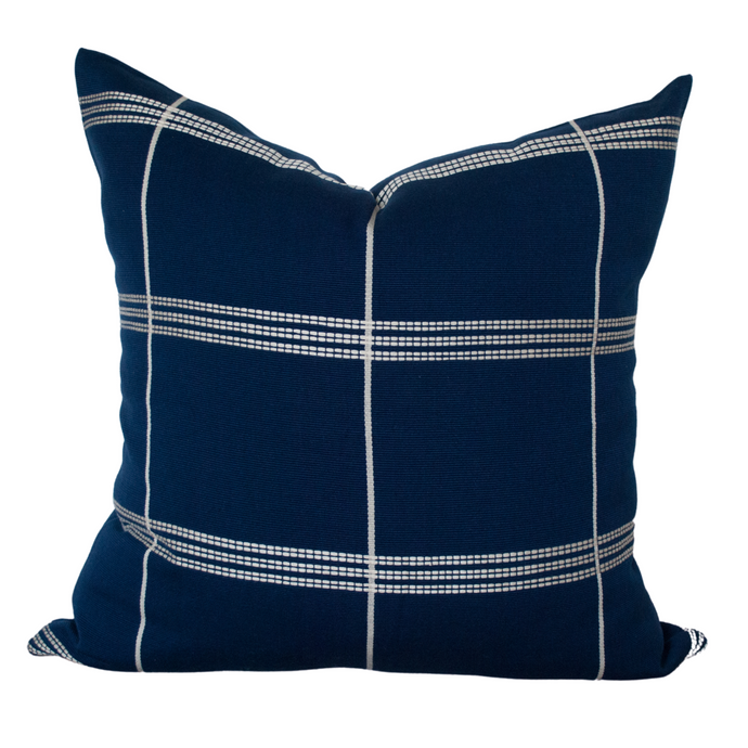 Navy Blue Throw Pillow 20