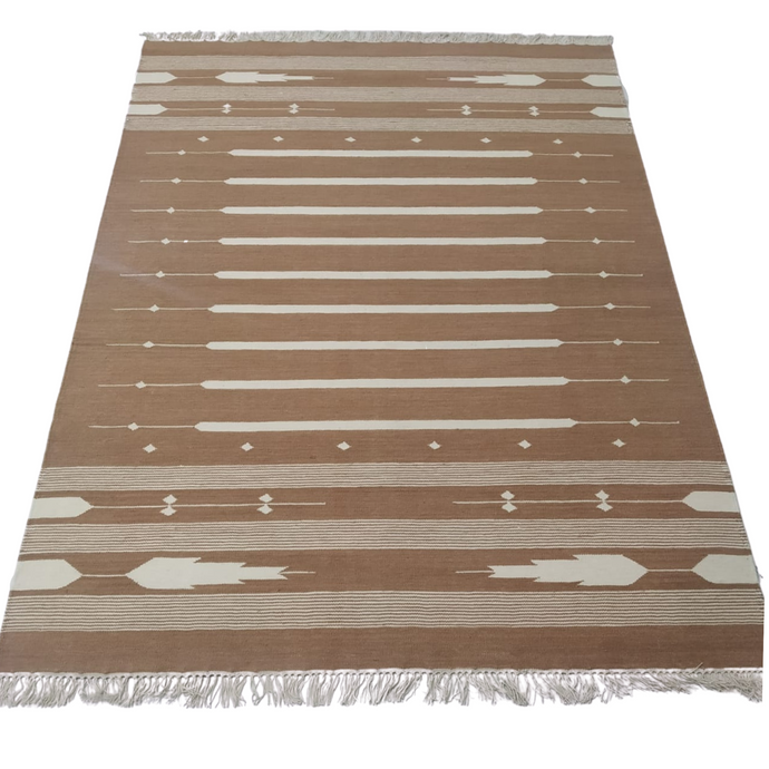Neutral Southwest Dhurrie Rug