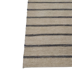 Neutral Striped Jute Dhurrie Rug