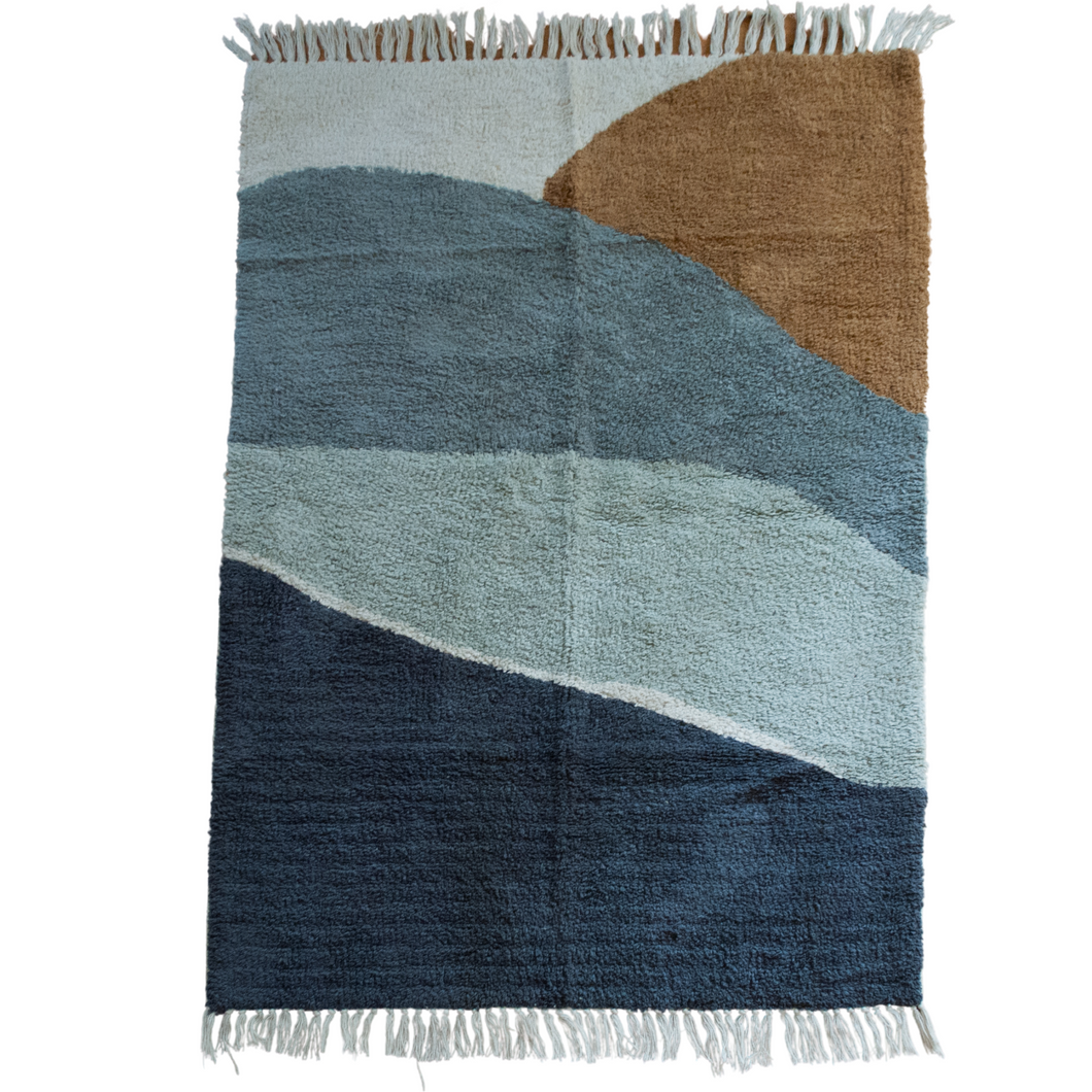 Ocean Breeze Blue Cotton Accent Rug