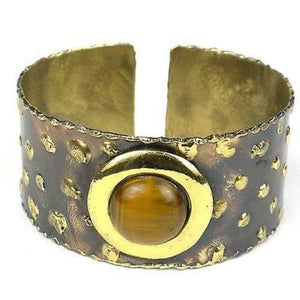 Make Your Mark Cuff - Brass Images (C)