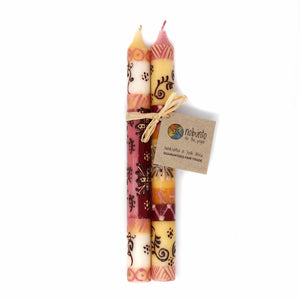 Tall Hand Painted Candles - Pair - Halisi Design - Nobunto