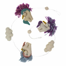 Load image into Gallery viewer, Felt Unicorn Garland - Global Groove
