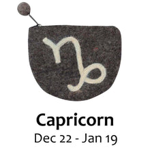 Load image into Gallery viewer, Felt Capricorn Zodiac Coin Purse - Global Groove