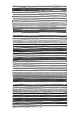 Load image into Gallery viewer, black-white-striped-accent-rug