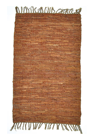 Light-Brown-leather-Accent-Rug