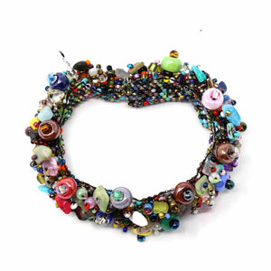 Magnetic Beach Ball Caterpillar Bracelet Multi - Lucias Imports (J)