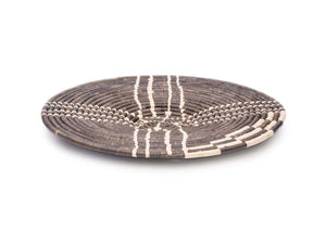 "21"" Handwoven Wall Art Plate in Cocoa"