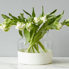 Load image into Gallery viewer, Glass Color Block Flower Vase