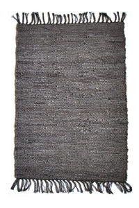 dark-brown-leather-accent-rug