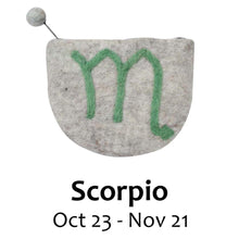 Load image into Gallery viewer, Felt Scorpio Zodiac Clutch