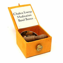 "Load image into Gallery viewer, Mini Meditation Bowl Box: 2"" Solar Plexus Chakra - DZI (Meditation)"