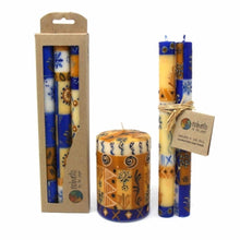 Load image into Gallery viewer, Tall Hand Painted Candles - Three in Box - Durra Design - Nobunto