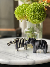 Load image into Gallery viewer, Zebra Soapstone Sculptures, Set of 2