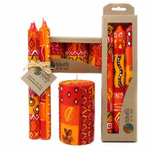 Load image into Gallery viewer, Set of Three Boxed Tall Hand-Painted Candles - Zahabu Design - Nobunto